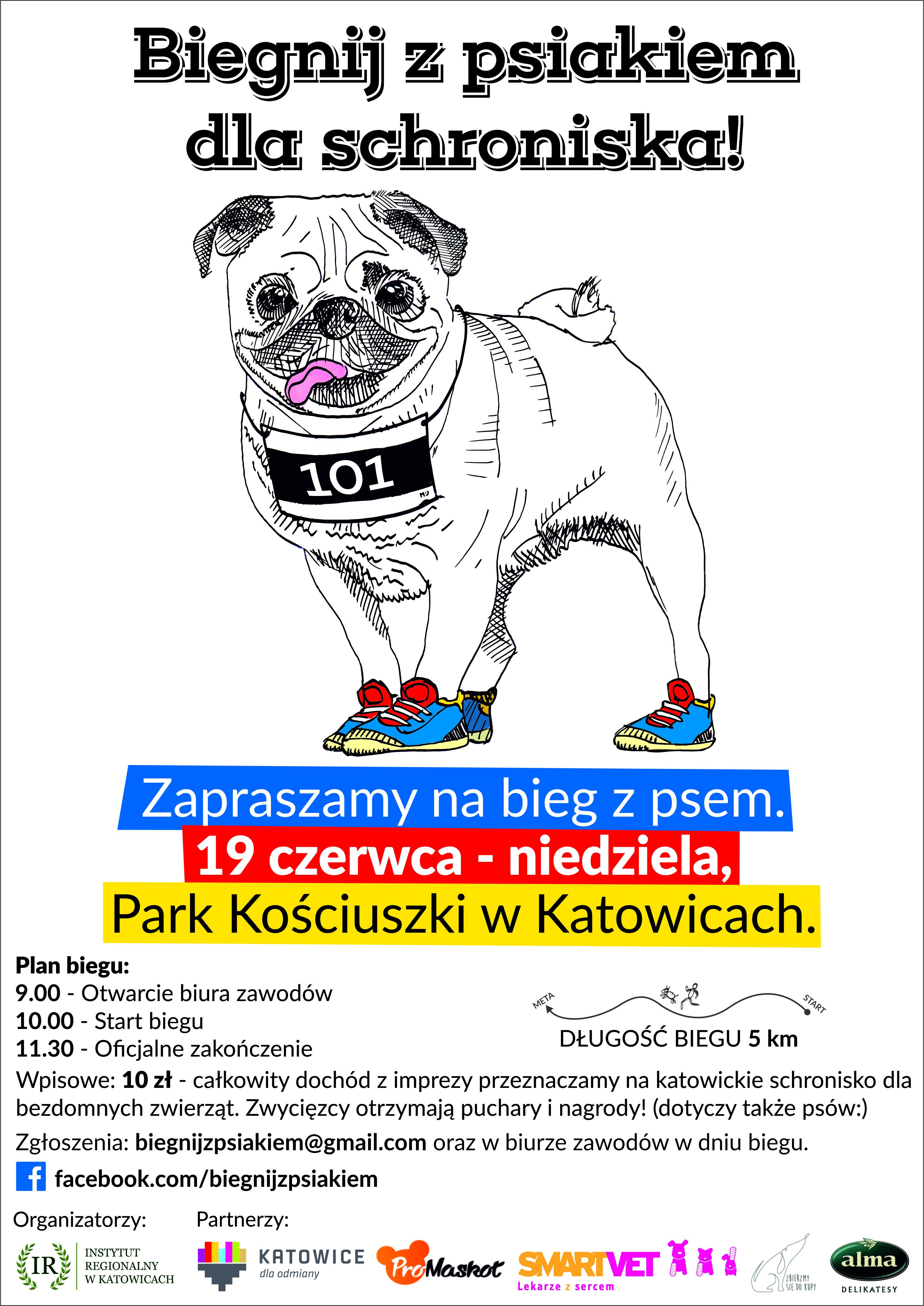 Katowice: BIEG Z PSIAKIEM 19 czerwca w Parku Kościuszki